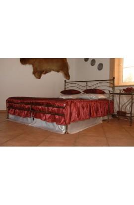 Łóżko Metalowe Nikola Niski Przód