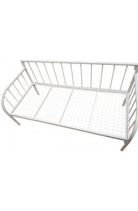 Sofa prosta Biała METALOWA KUTA 80X180 BIAŁA SKANDYNAWSKI LOFT