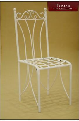 Krzesło Metalowe Białe