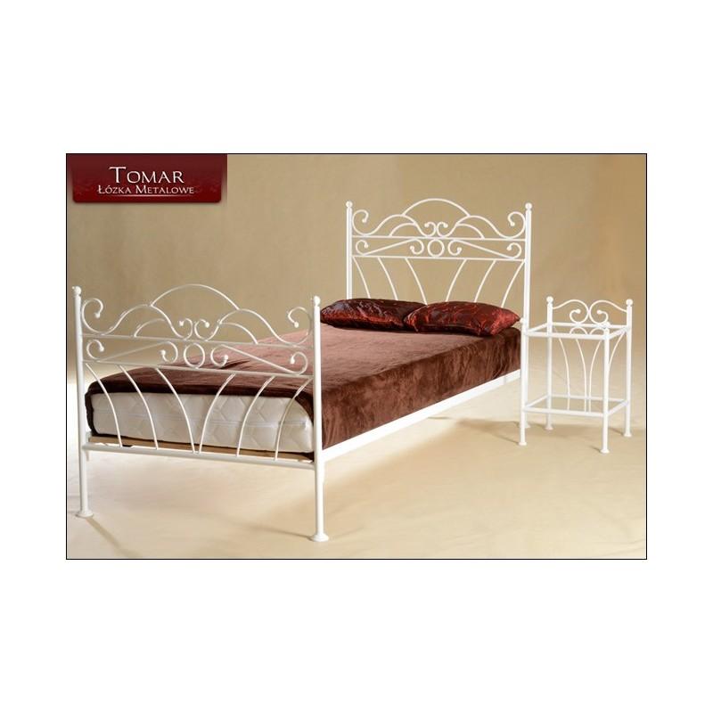Wiking Biały 90x200 łóżko Metalowe Młodzieżowe Jednoosobowe
