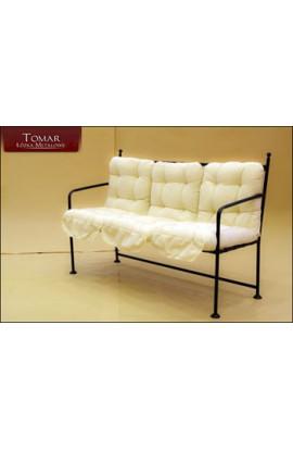 Sofa Prosta Ogrodowa  METALOWA KUTA 140X45X102CM