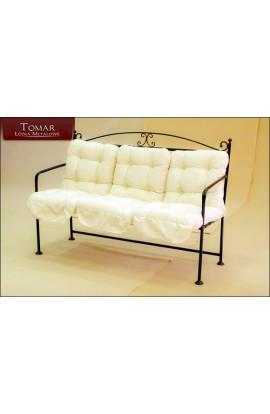 Sofa Dekoracyjna Ogrodowa  METALOWA KUTA 140X45X102CM