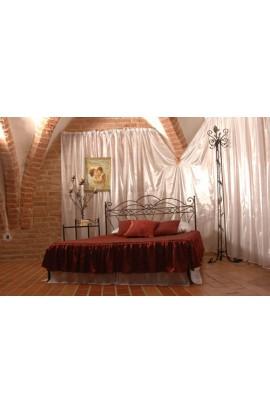 Łóżko Metalowe Wiking Biały Niski Przód