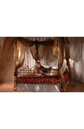 Łóżko Metalowe Wiking Baldachim